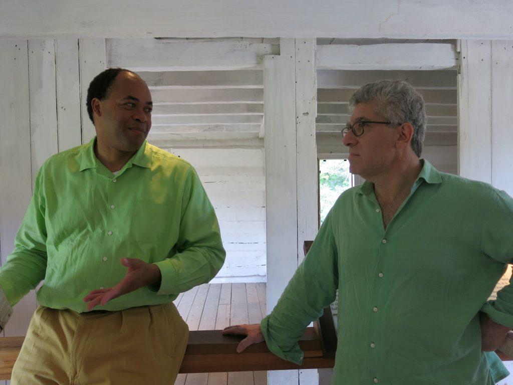 David and Glenn - they did not plan the matching shirt thing.
