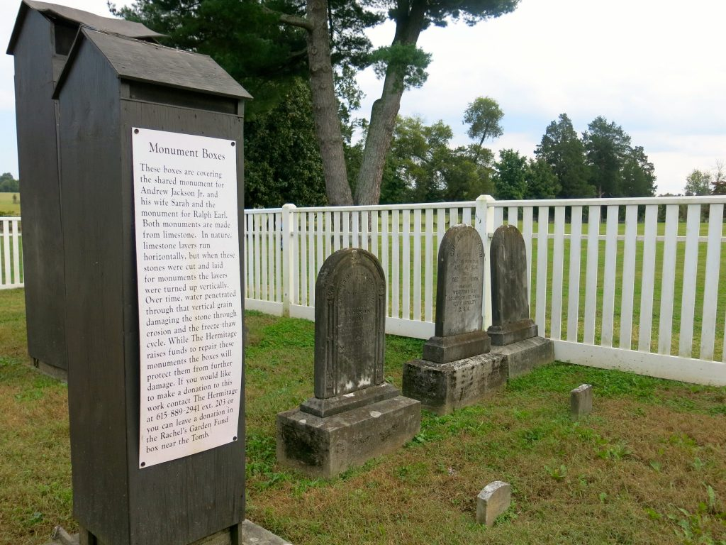 The cemetery on the grounds.