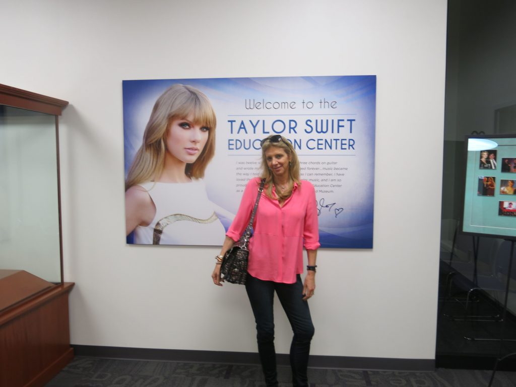 Me in front of the Taylor Swift Educational Center. I refrain from comment.