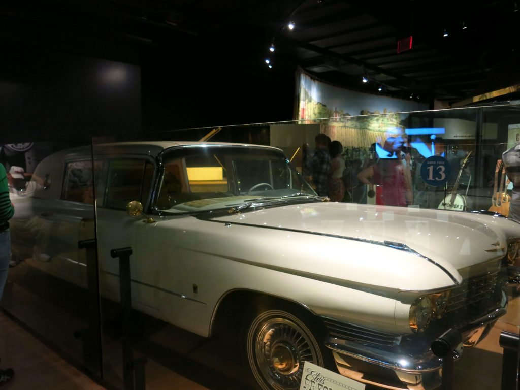 Here it is - not a great photo, but it's Elvis gold Cadillac.