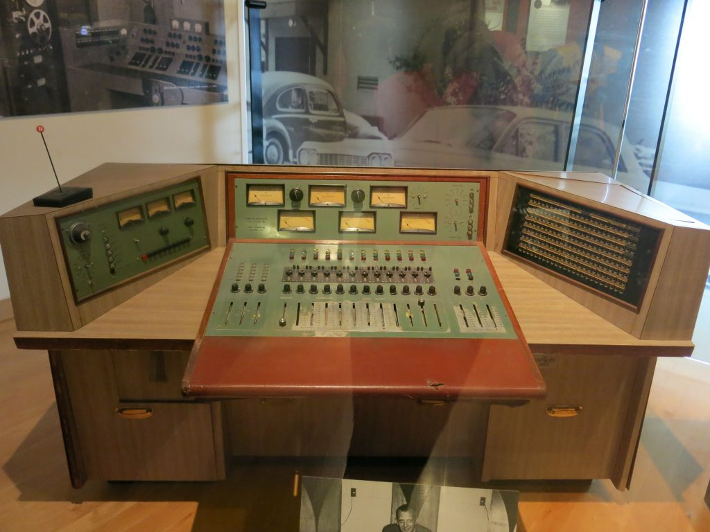 This was the original mixing board from Studio B. Elvis recorded on this.
