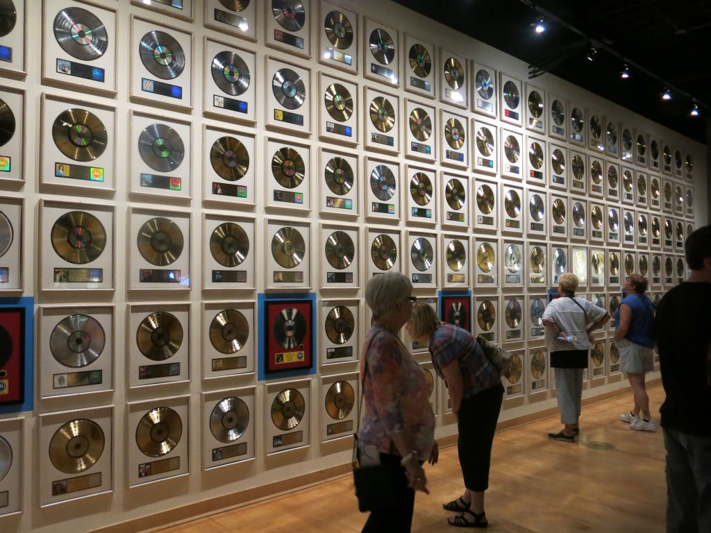 Walls of gold and platinum records are everywhere.