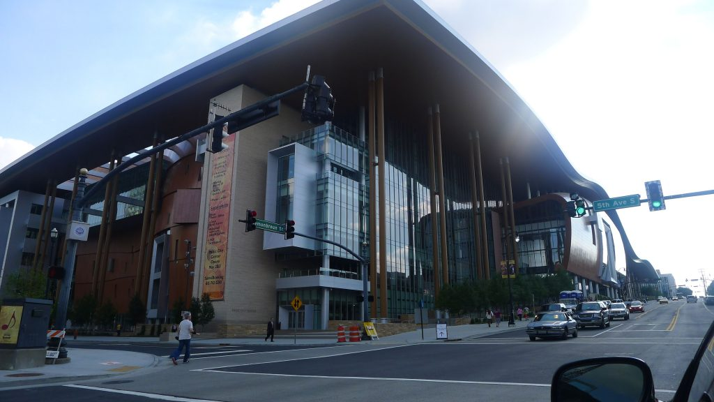 The new Nashville Performing Arts Center. Bad photo, you can't tell how big it is. It takes up three city blocks.