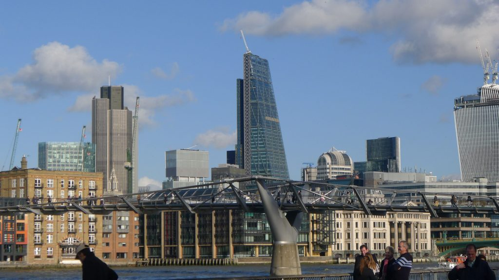 Modern London skyline. No more mews streets.