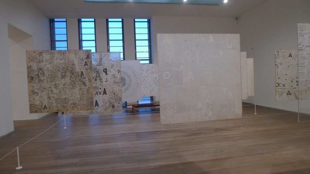 One of her late installations.