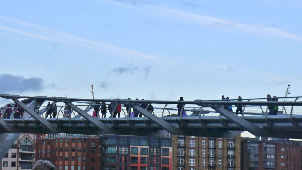 We then crossed the Millennium Bridge.