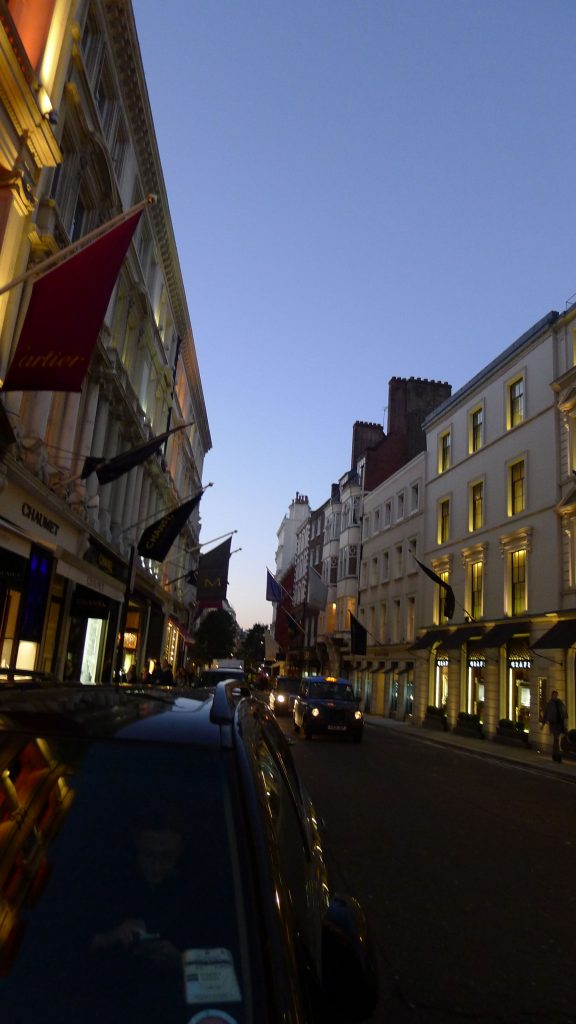 By the time I got to Bond Street it was almost dark. I did make several stops. But a girl has to have a few secrets.