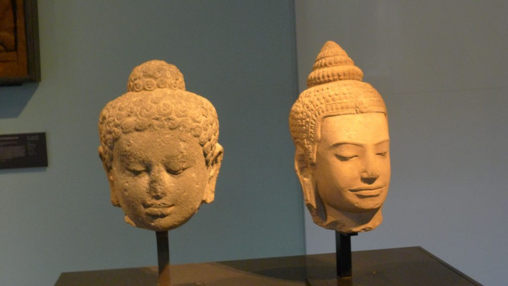 The one on the left is from Central Java around 800 -830. And the right is Thai 1200 -1300.