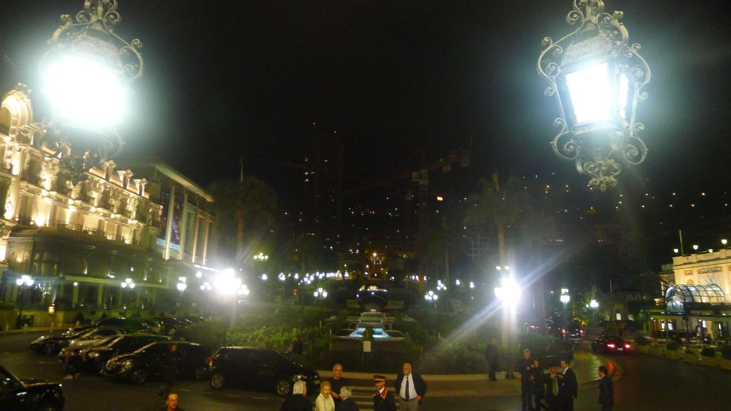 The main square looking out from the casino.