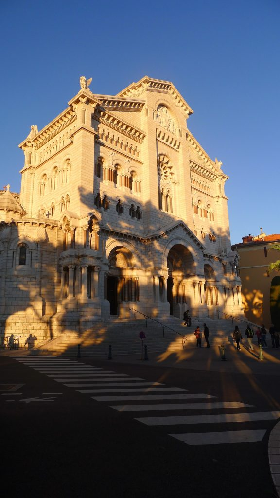 Church of Monaco where Grace Kelly is buried.