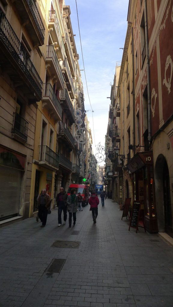 We left the big main street called La Rambla and went into back streets that date back to the 14th and 15th Centuries.