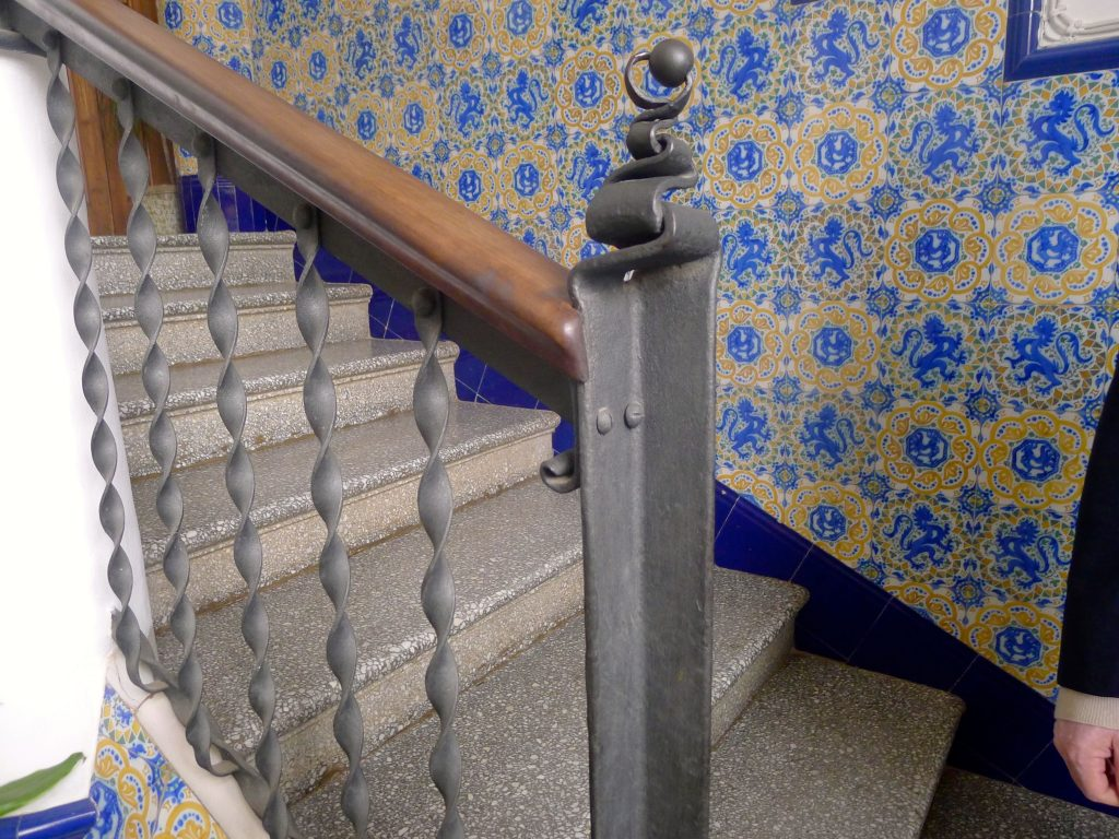 Gaudi never uses straight lines, though there are some in this house.