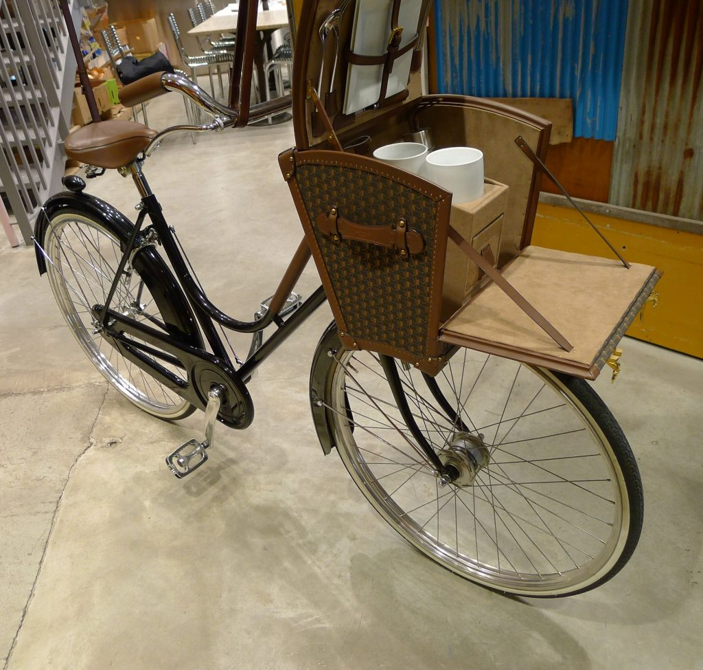 This bike with the picnic basket will be nice for someone.