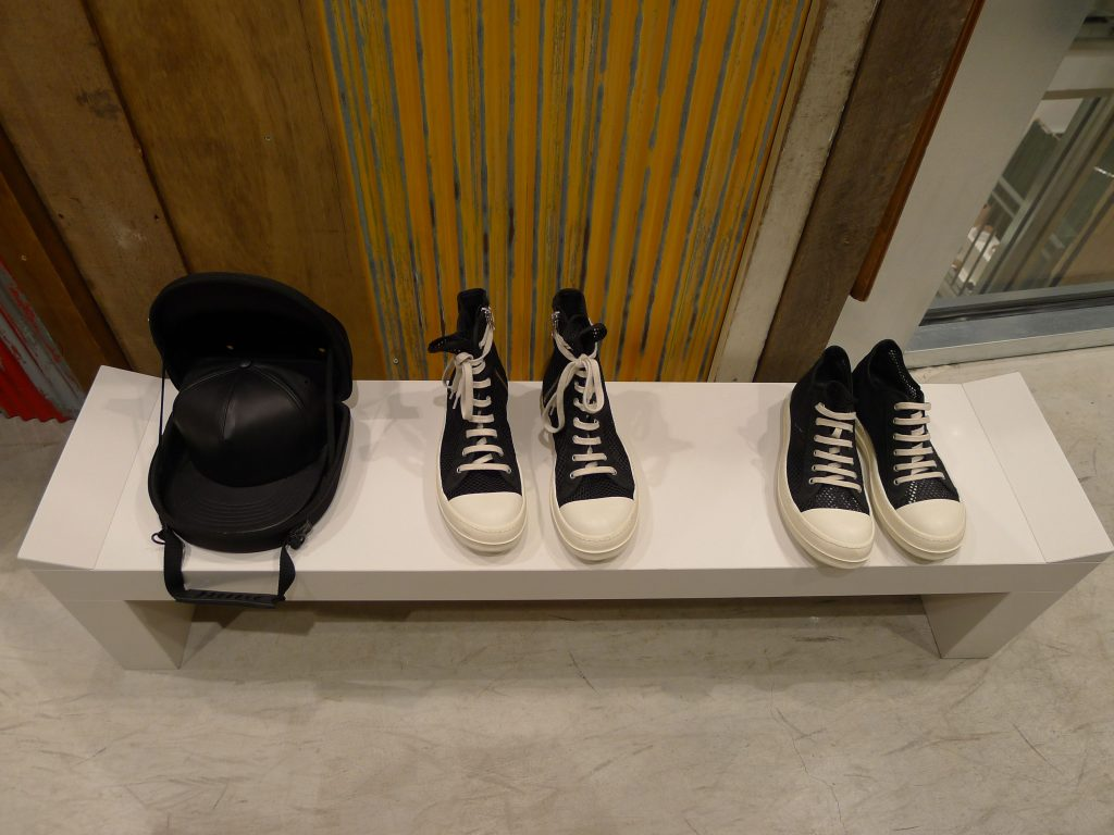 Very pricey sneakers that look like inexpensive ones are part of the look. Always.