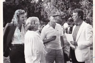 Mike Nichols, Buck Henry, Buck's mom Ruth Zuckerman and me, the first time I met him.